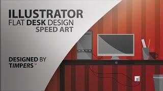 Illustrator Flat Computer Setup Speed Art