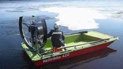 Hydrokopteri Airboat testing lake Kitee