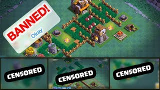 BANNED? These players were! Clash of Clans Builder Hall bases!