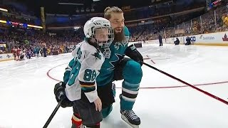 Sons of Burns and Pavelski lead Flying V in Breakaway Challenge