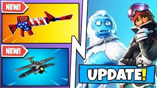 *NEW* Fortnite Update! All Season 7 Secrets, Weapon Wraps, X-4 Stormwing Plane! (v7.00 Patch)