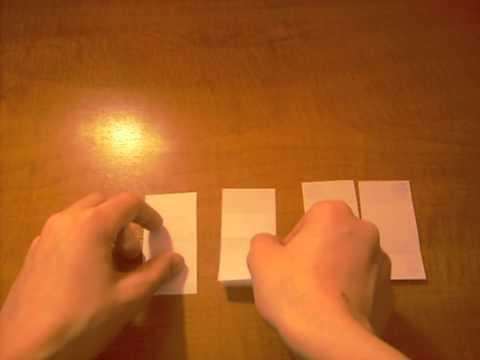 Как сделать бумажную открытку перевертыш