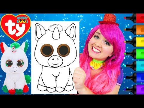 coloring-beanie-boos-candy-cane-unicorn-coloring-page-prismacolor-markers-|-kimmi-the-clown