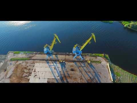 Freeport of Riga / Рижский свободный порт аэровидеосъемка - DJI Phantom 4