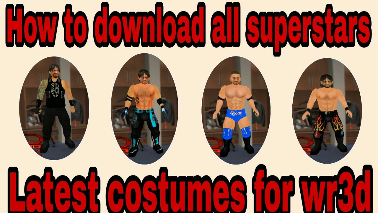 How to download latest costumes(textures) for wr3d/wrestling revolution 3d  game