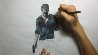 Uncharted 4: A Thief's End Drawing Nathan Drake