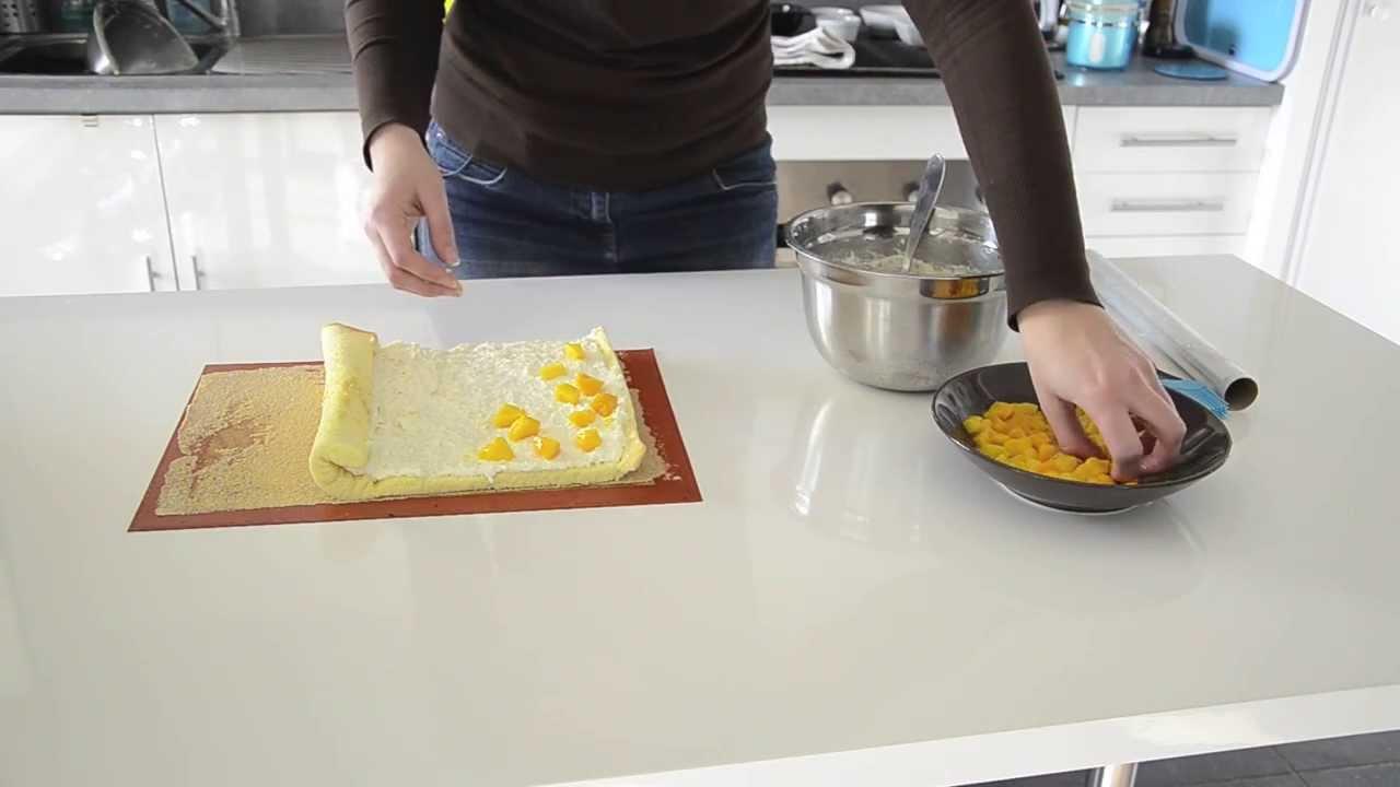 Buche de noel aux fruits sans beurre