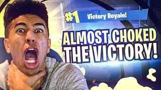 2Hype Plays Fortnite Squads! I ALMOST CHOKED THE VICTORY! Fortnite Battle Royale