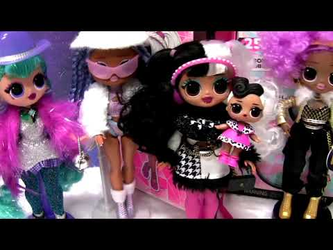 lol OMG doll unboxing Dolly & Doll Face Fashion Doll & Sister Winter Disco toys review