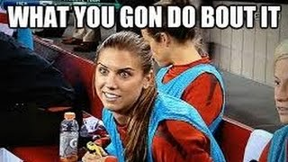 alex morgan taking out the goalkeepers one at a time