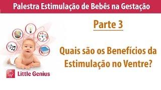Parte 3-Quais são os Beneficios da Estimulação no Ventre?Palestra Estimulação de Bebês na Gestação