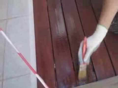 Madera Teca mantenimiento y restauracion - YouTube