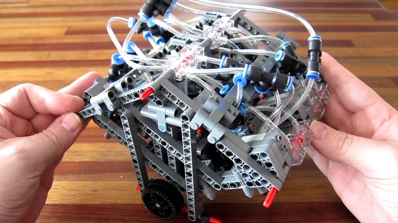 lego pneumatic engine - camless w12