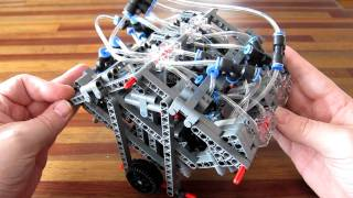 Lego Pneumatic Engine - camless W12
