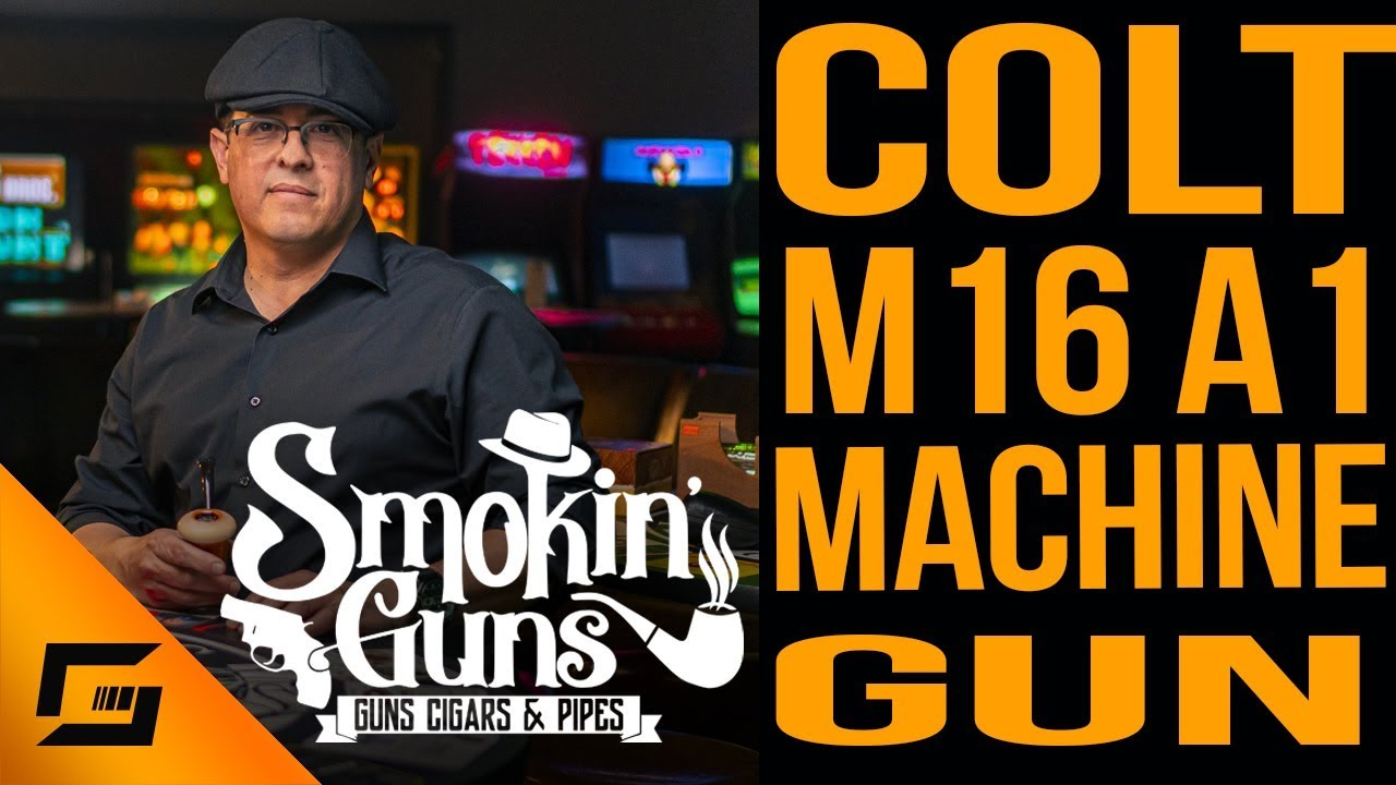 Colt M16A1 Machine Gun and 1-Q Tobacco with Calabash | Smokin' Guns
