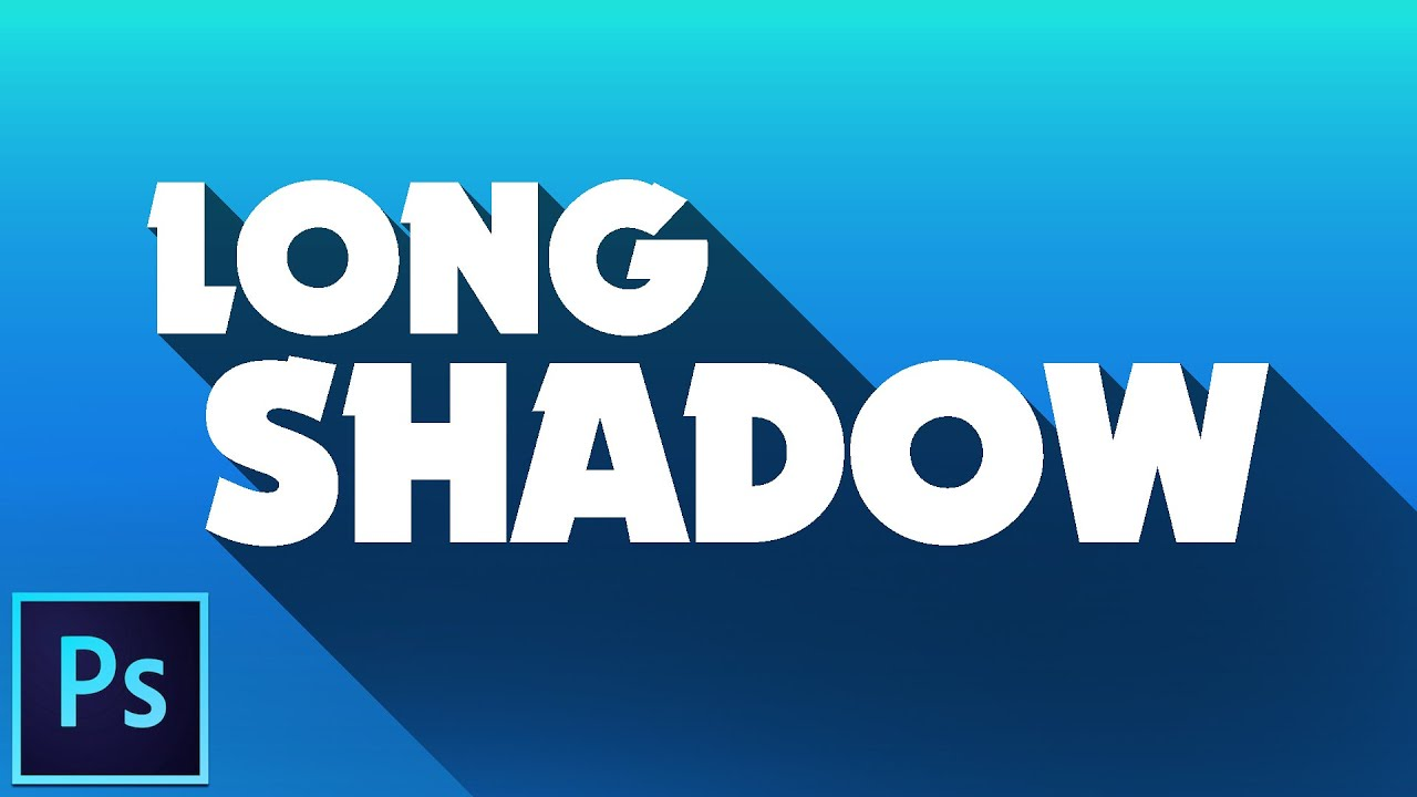 Photoshop text long shadow