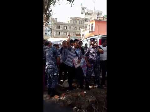 Nepalese medical students graduated from abroad   protesting against Nepal Medical Council. Sept24
