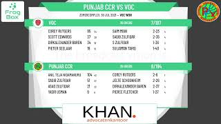 🔴LIVE: Punjab CCR vs VOC   KNCB Topklasse T20 Round 3   Royal Dutch Cricket   30-07-2021