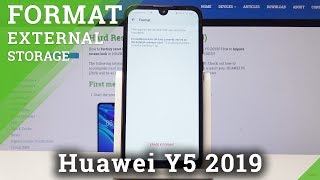 How to Fix Memory Card in HUAWEI Y5 2019 - Format SD Card