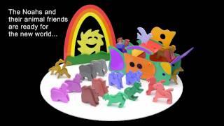 Wood Toy Plans - Psychodelic Noah's Happy Rainbow Ark & Animals
