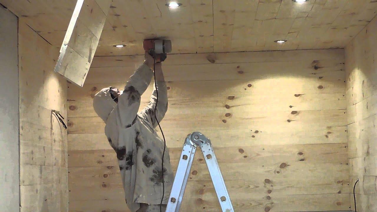 Sanding Of Ceiling Youtube