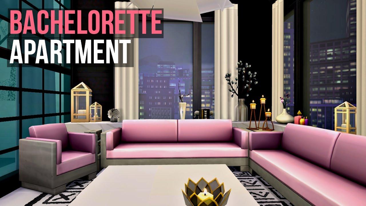 BACHELORETTE APARTMENT Sims 4 Interior Design YouTube