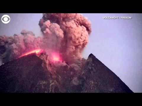WEB EXTRA: Volcano Eruption Caught On Video