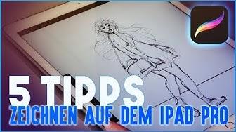 TUTORIAL: Zeichnen auf dem iPad Pro & Apple Pencil   DEUTSCH