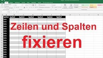 Excel 2016, 2013: Zeilen und Spalten fixieren - Tutorial [einfrieren, Beispiel, einfach erklärt]