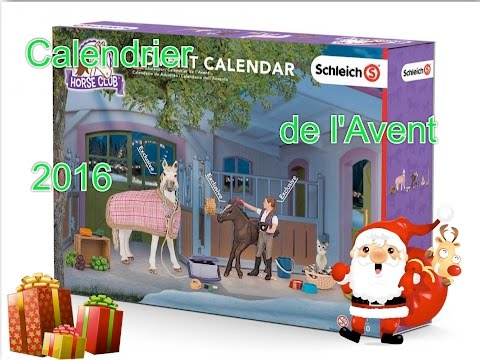 pr sentation du calendrier de l 39 avent schleich 2016 youtube. Black Bedroom Furniture Sets. Home Design Ideas