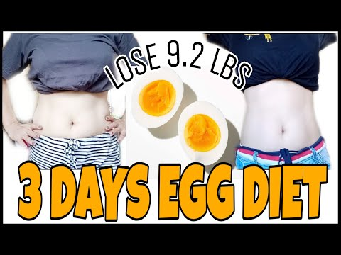 HOW TO LOSE WEIGHT FAST   3 DAYS EGG DIET