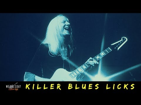 Warming up with // JOHNNY WINTER - Killer Blues Licks!