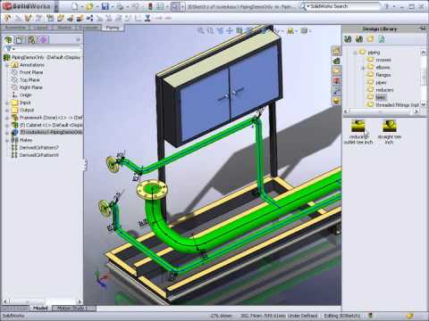 Demo SolidWorks - Piping Travel Video