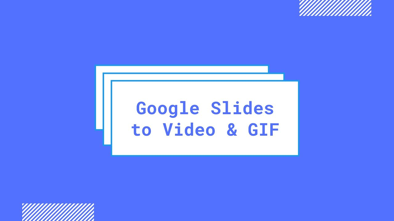 Save Google Slides Presentations as Video Files with Audio