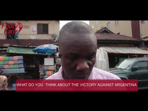 Nigeria VS Argentina 4-2 post match fan view