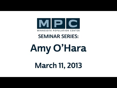 MPC Seminar Series: Amy O' Hara | March 11, 2013