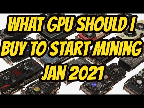 What GPU For Mining Jan 2021