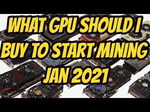 What GPU For Mining Jan 2021
