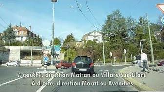 Switzerland 138 (Camera on board): Fribourg ville, Quartier de Beauregard, Moncor, Villars-sur-Gl.