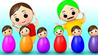Colors Songs for Kids with Funny Baby Wooden Toys - Nursery Rhymes and Kids Songs for Children