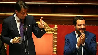 Italie : Giuseppe Conte face au parlement