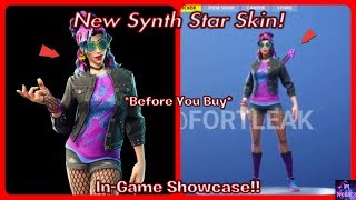 *NEW* Synth Star Skin! (Before You Buy) In-Game Showcase!!   Fortnite Battle Royale