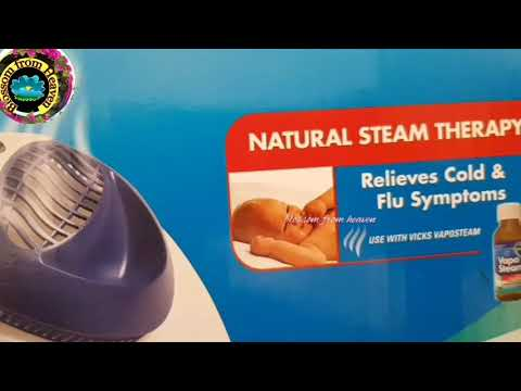 Vicks warm steam vaporizer review..how to use it..