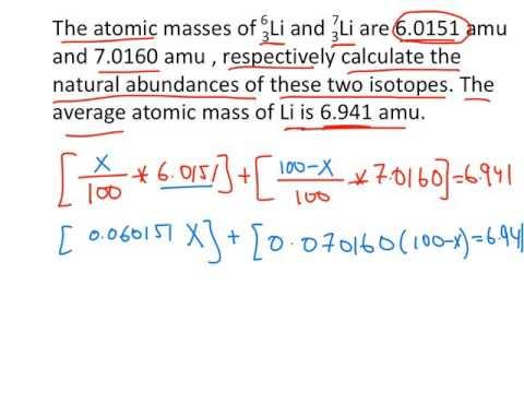 3.1-3.2 Atomic and Molar Mass