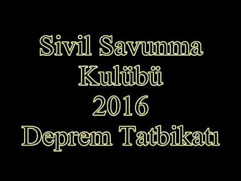2016 Deprem Tatbikatı