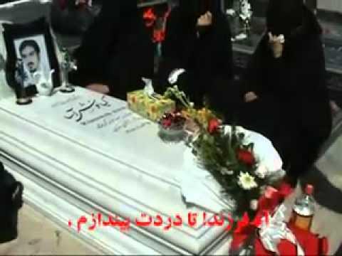 Iran Kermanshah March 2011 Martyr Kianoosh Asa Grave, Arboriculture Day