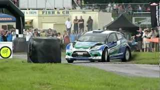 WRC Petter Solberg Castle Combe 18th August Rally Stage Action