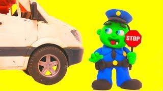 BABY HULK WANTS TO BE A POLICE  ❤ Superhero Babies & Frozen Elsa Play Doh Cartoons For Kids
