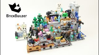 All Minecraft Minifigures with 21137 The Mountain Cave - Brick builder