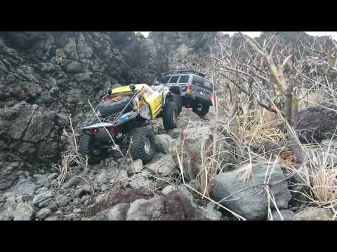 SJ RC Easter 2017 Trail at Iba, Anni-y Antique, Philippines Vaterra k10 vs Axial Scx10.2